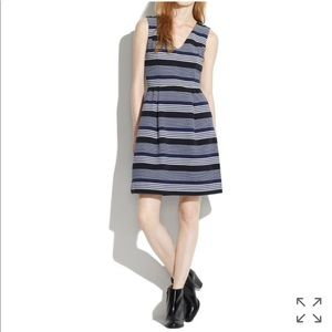 • Madewell • Gallerist Ponte V Neck Dress Stripe
